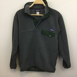Patagonia Synchilla Snap-T Pullover Dark Grey - XS